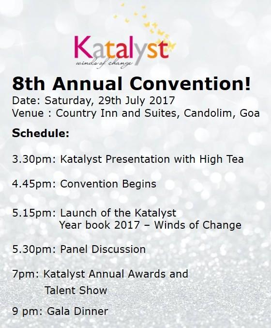 170720 Katalyst Goa Convention 2017- Schedule